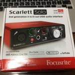 Focusrite Scarlett Solo G2 レビュー