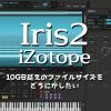 【 Iris2 iZotope 】10GB越えのファイルサイズをどうにかしたい
